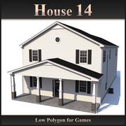 Low Polygon House 14 3d model