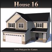 Casa poligonal baja 16 modelo 3d