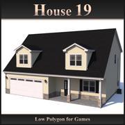 Низкополигональный дом 19 3d model