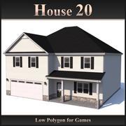 Casa poligonal baja 20 modelo 3d