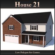 Dom o niskim wielokącie 21 3d model
