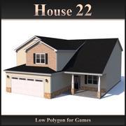 Низкополигональный дом 22 3d model