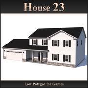 Casa poligonal baja 23 modelo 3d
