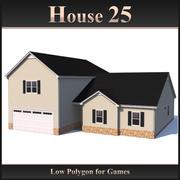 Dom o niskiej wielokącie 25 3d model