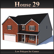 Casa Low Polygon 29 modelo 3d