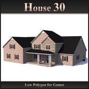 Casa Low Polygon 30 modelo 3d