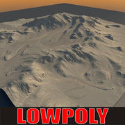 Lowpoly Mountain MtnN6 3d model