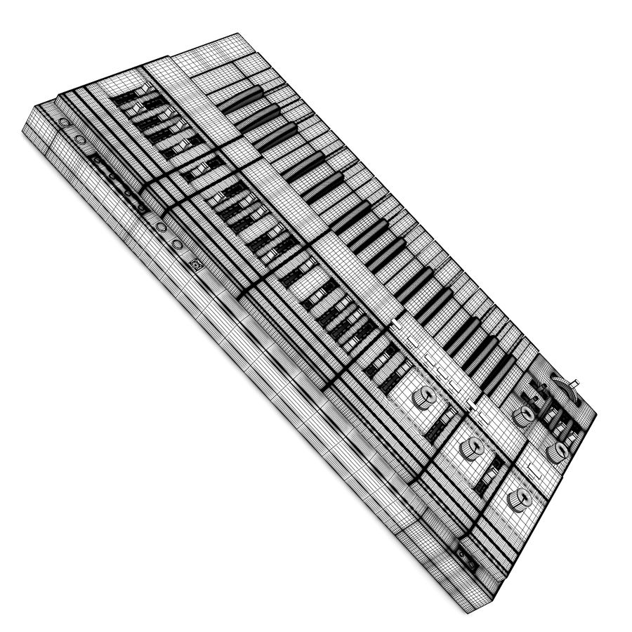Keyboard Synthesizer royalty-free 3d model - Preview no. 6