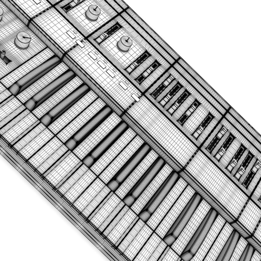 Keyboard Synthesizer royalty-free 3d model - Preview no. 4