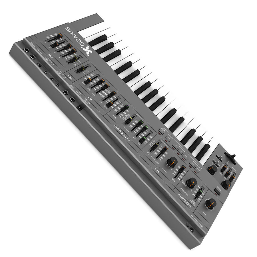 Keyboard Synthesizer royalty-free 3d model - Preview no. 5