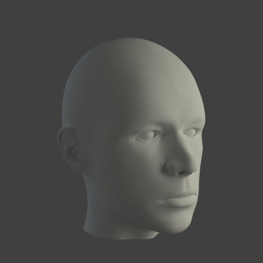 人間の男性の頭 royalty-free 3d model - Preview no. 1