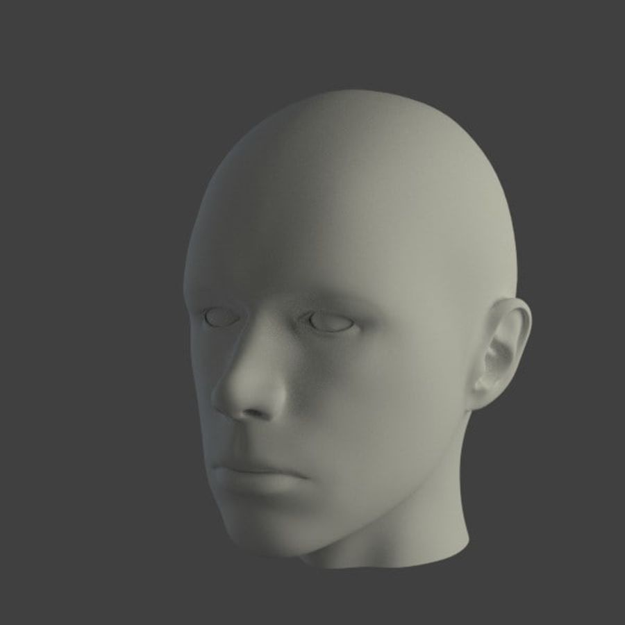 人間の男性の頭 royalty-free 3d model - Preview no. 3