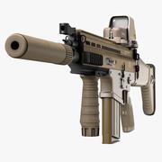 Assault Rifle FN SCAR-H 3d model