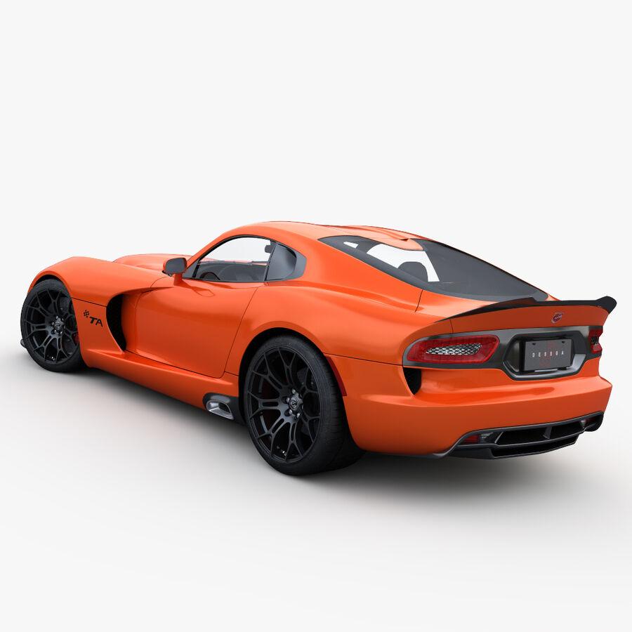 Dodge viper TA 2013 royalty-free 3d model - Preview no. 5
