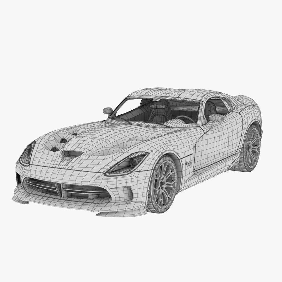 Dodge viper TA 2013 royalty-free 3d model - Preview no. 9