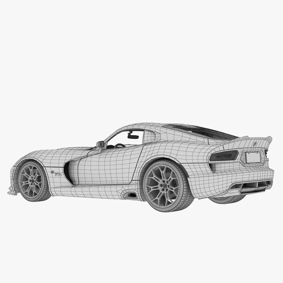 Dodge viper TA 2013 royalty-free 3d model - Preview no. 11
