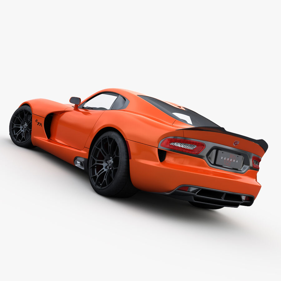 Dodge viper TA 2013 royalty-free 3d model - Preview no. 8