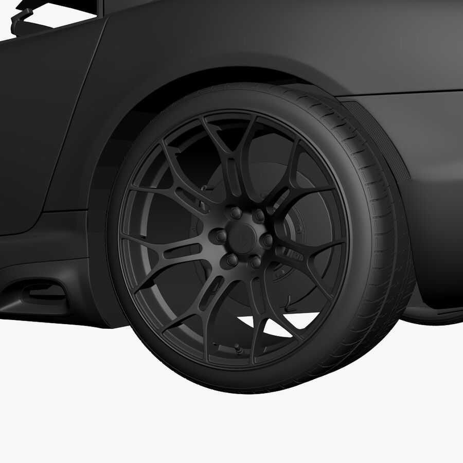 Dodge viper TA 2013 royalty-free 3d model - Preview no. 17