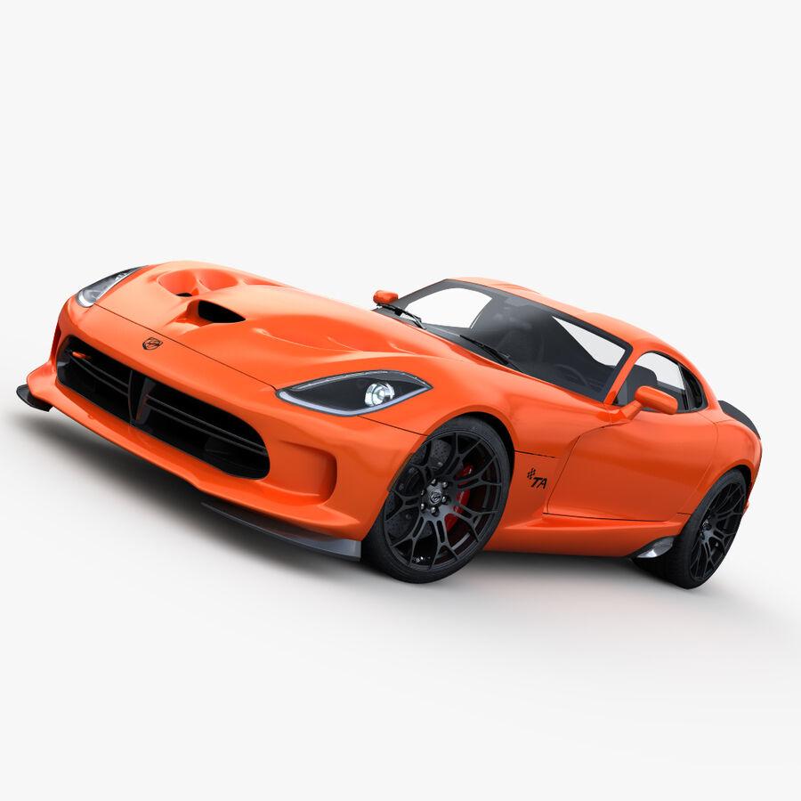 Dodge viper TA 2013 royalty-free 3d model - Preview no. 3