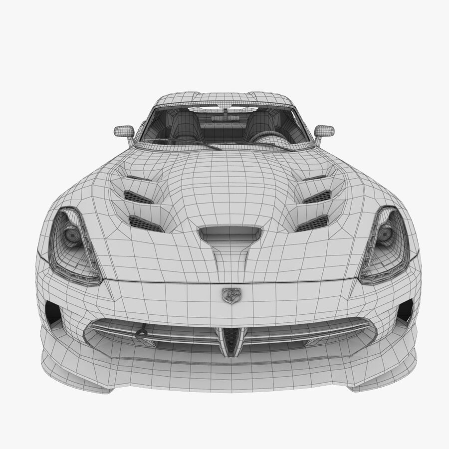Dodge viper TA 2013 royalty-free 3d model - Preview no. 13