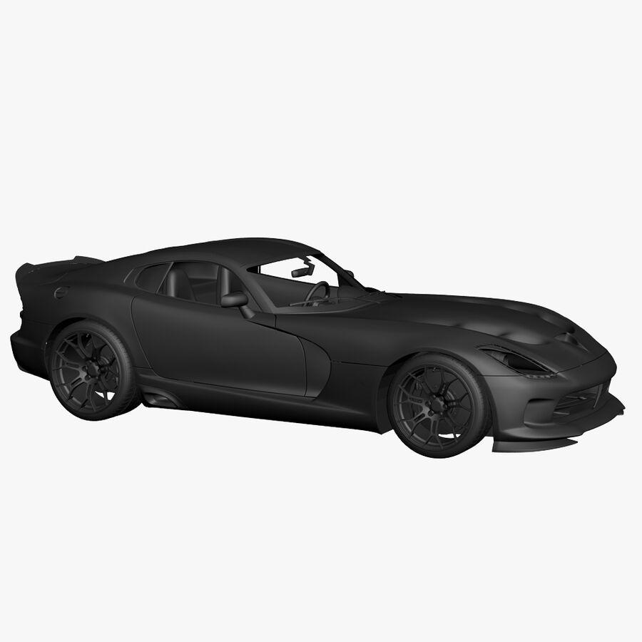Dodge viper TA 2013 royalty-free 3d model - Preview no. 15