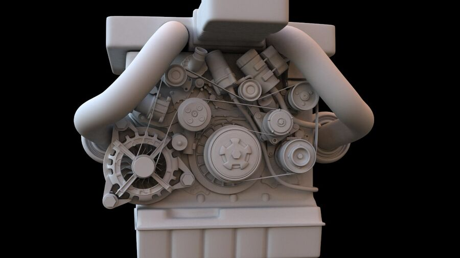 Engine car royalty-free 3d model - Preview no. 5