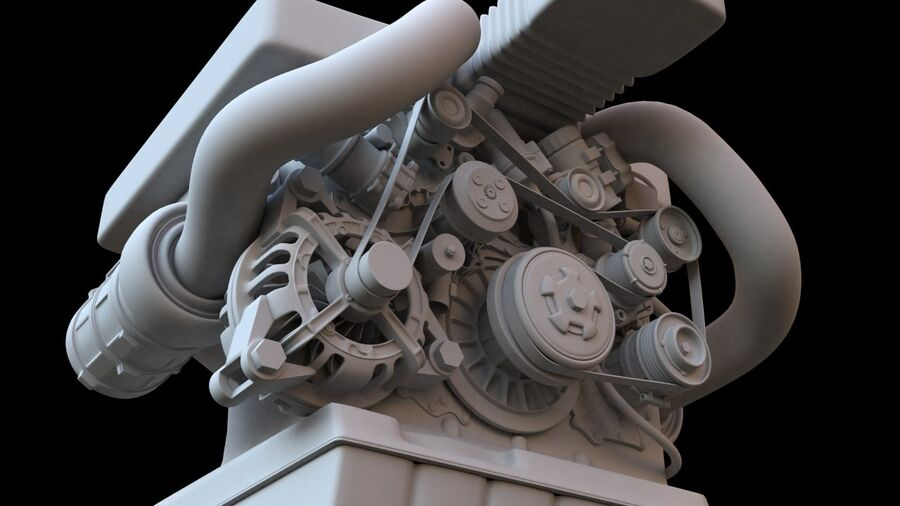 Engine car royalty-free 3d model - Preview no. 6