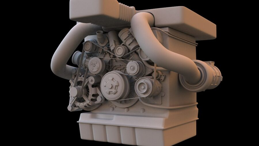 Engine car royalty-free 3d model - Preview no. 7