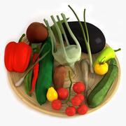 Schüssel mit Gemüse 3d model