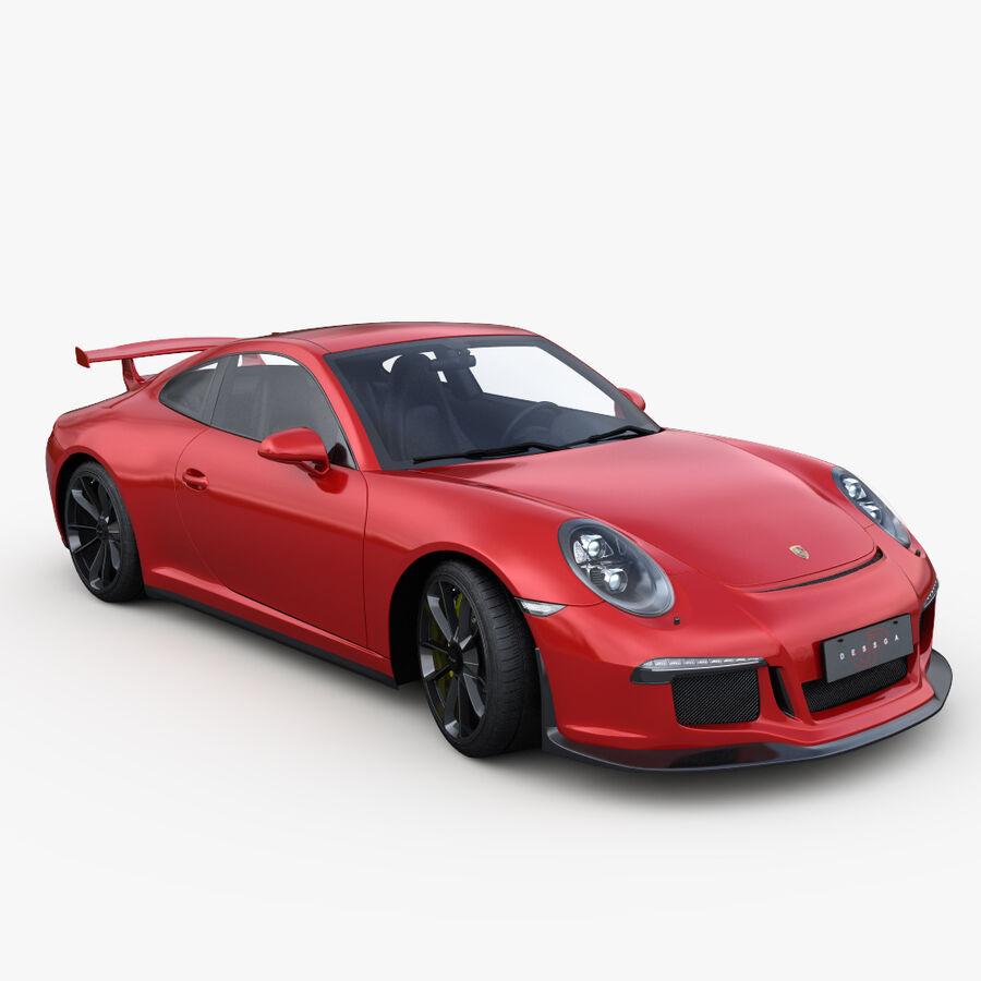 Porsche 911 Carrera GT3 2014 royalty-free 3d model - Preview no. 7