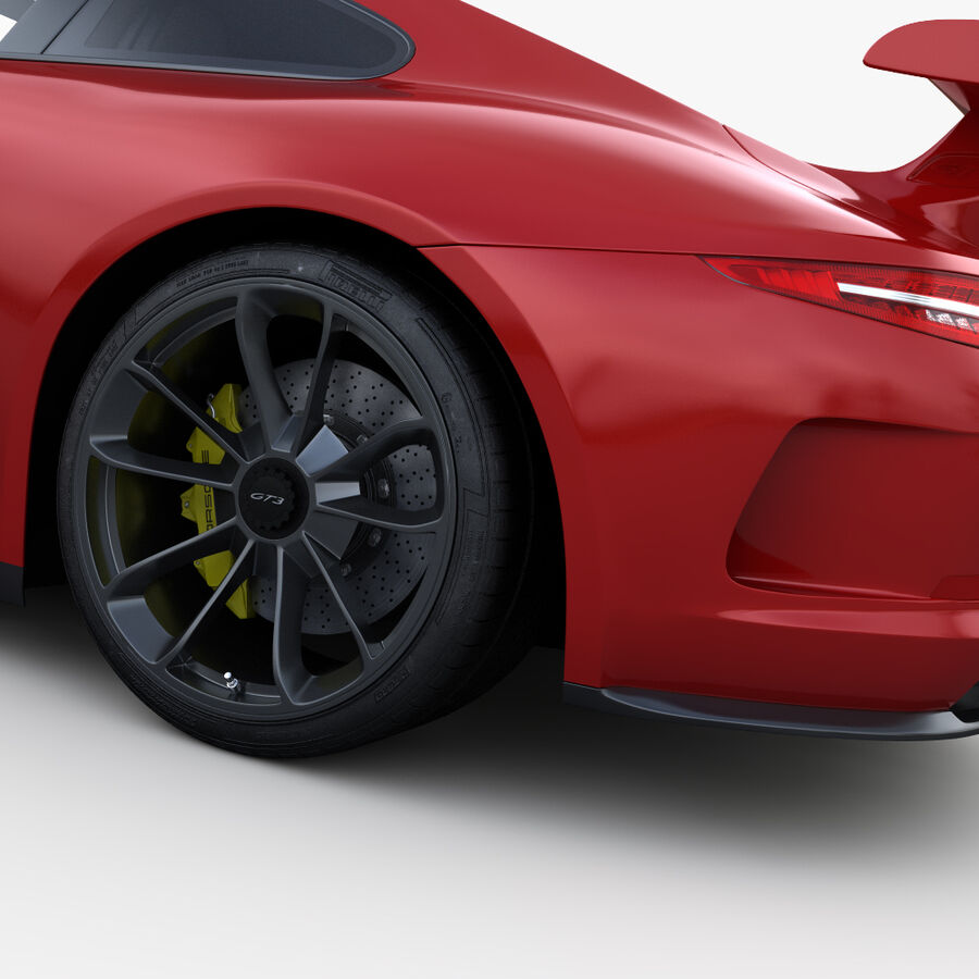 Porsche 911 Carrera GT3 2014 royalty-free 3d model - Preview no. 9