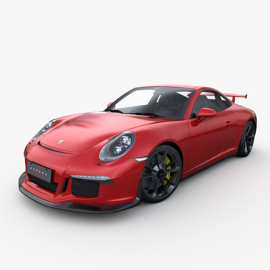Porsche 911 Carrera GT3 2014 royalty-free 3d model - Preview no. 1