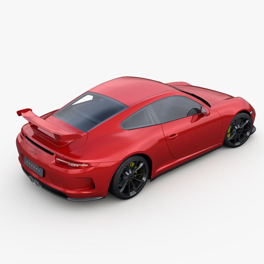Porsche 911 Carrera GT3 2014 royalty-free 3d model - Preview no. 6