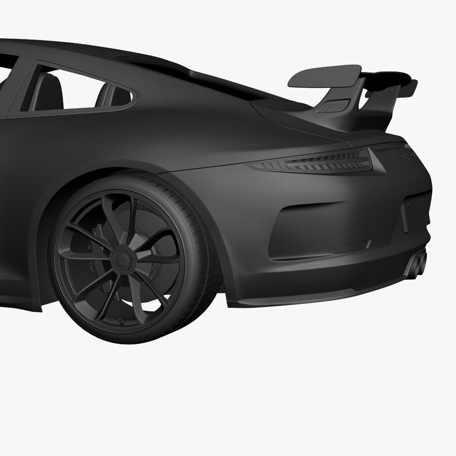 Porsche 911 Carrera GT3 2014 royalty-free 3d model - Preview no. 18