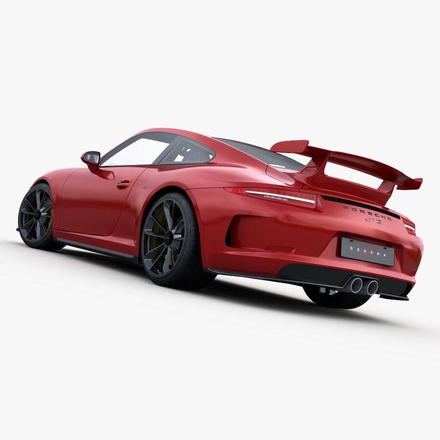 Porsche 911 Carrera GT3 2014 royalty-free 3d model - Preview no. 10