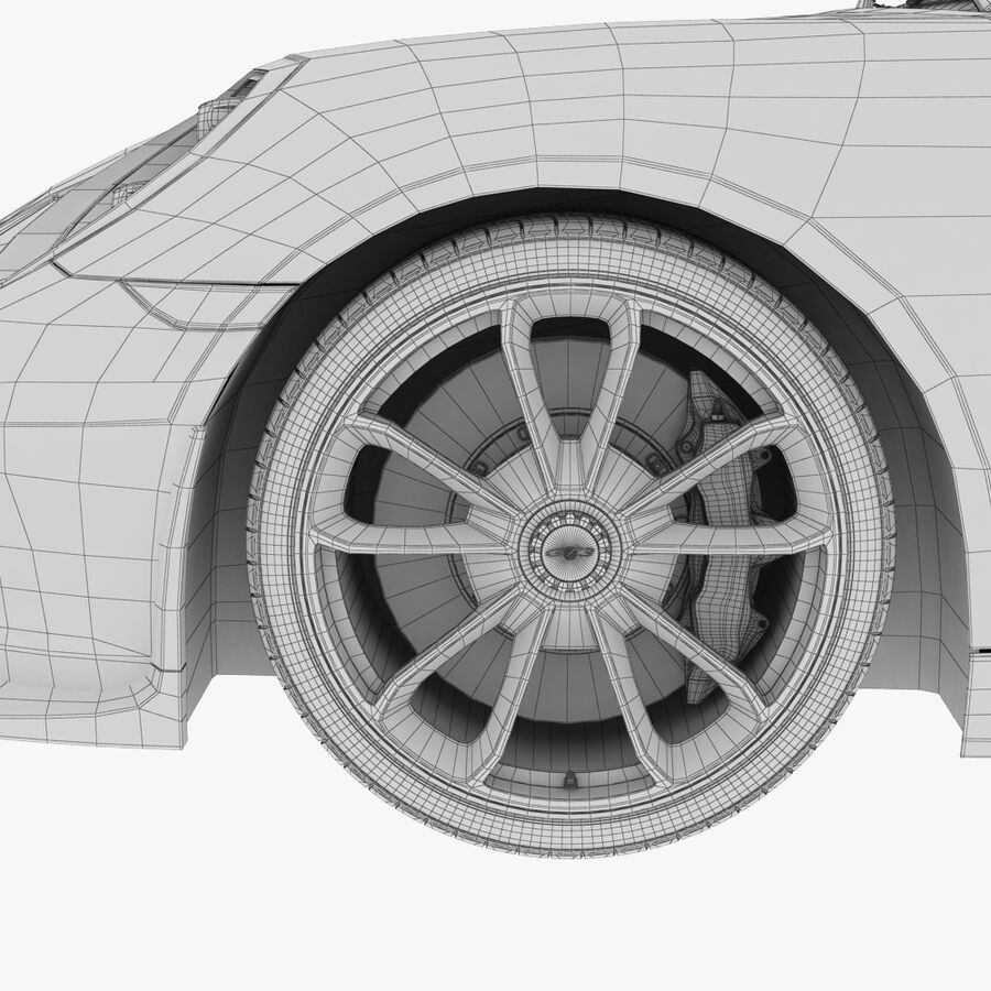 Porsche 911 Carrera GT3 2014 royalty-free 3d model - Preview no. 14