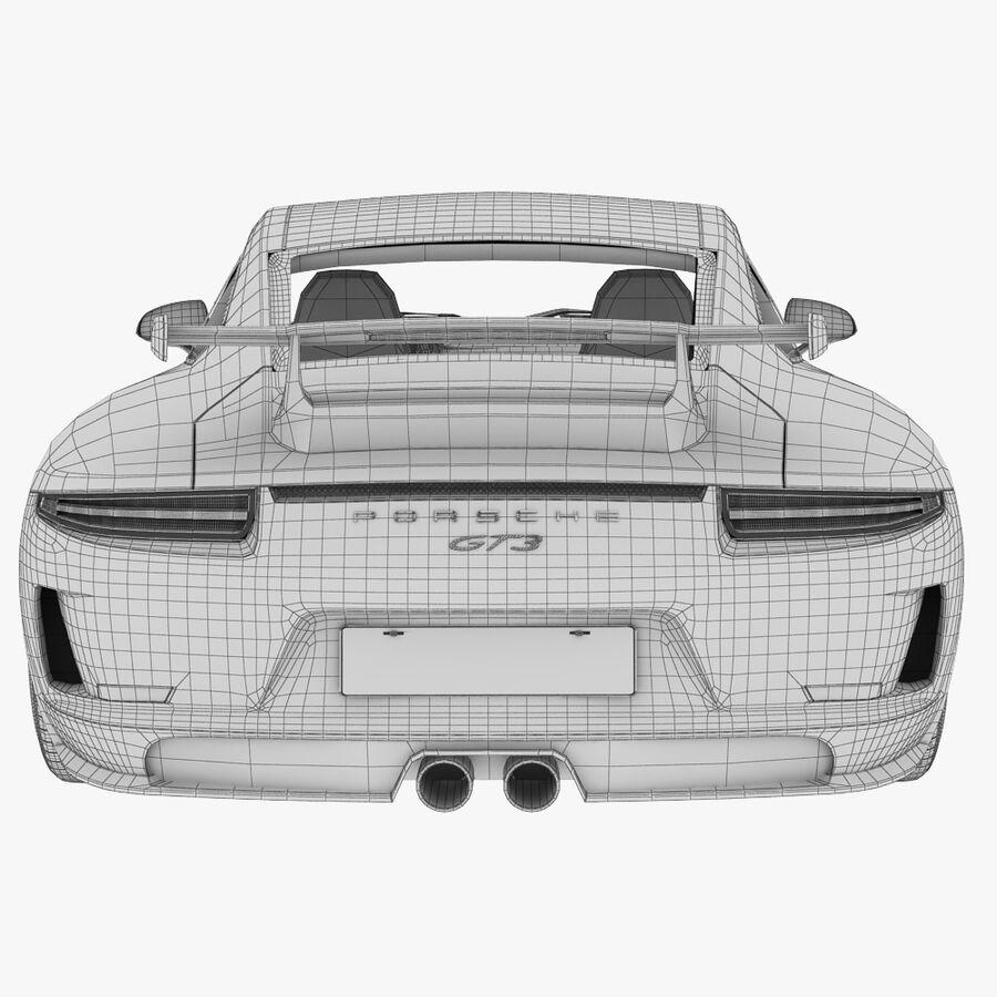 Porsche 911 Carrera GT3 2014 royalty-free 3d model - Preview no. 15