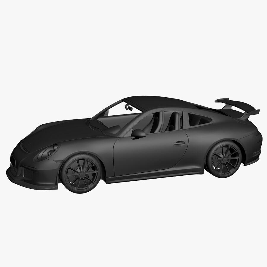 Porsche 911 Carrera GT3 2014 royalty-free 3d model - Preview no. 17