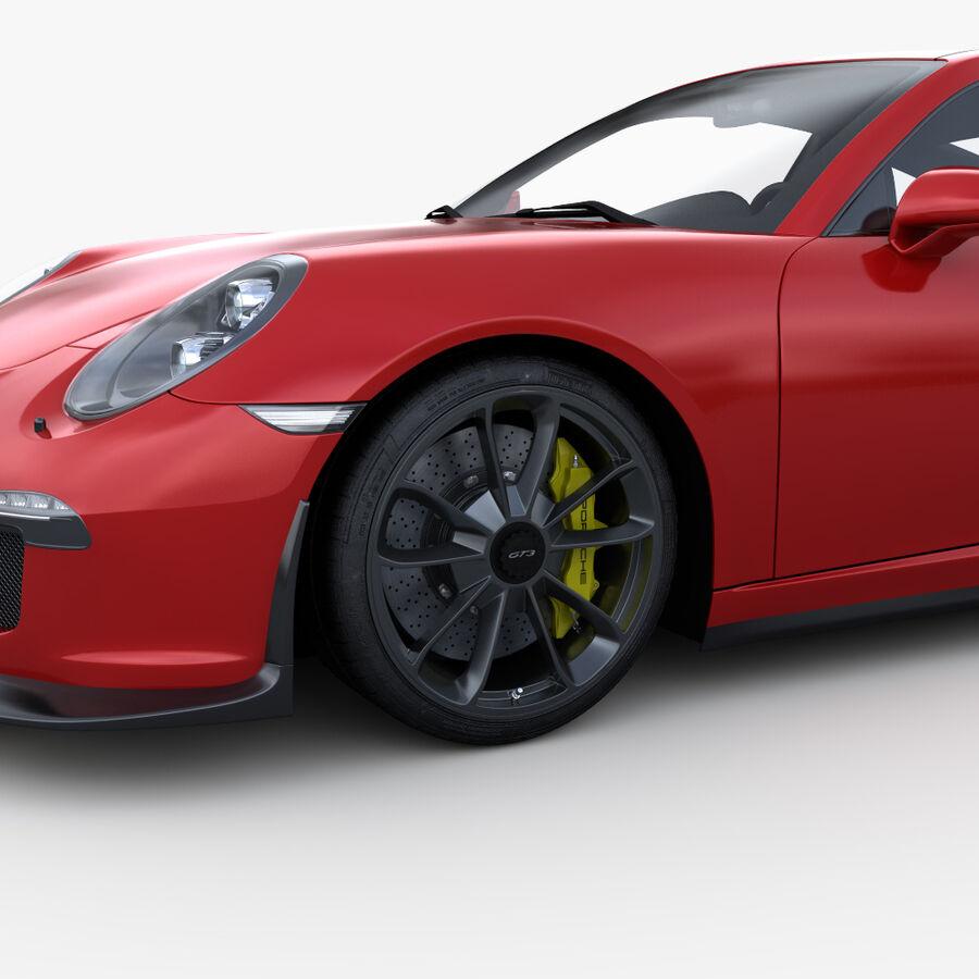 Porsche 911 Carrera GT3 2014 royalty-free 3d model - Preview no. 8
