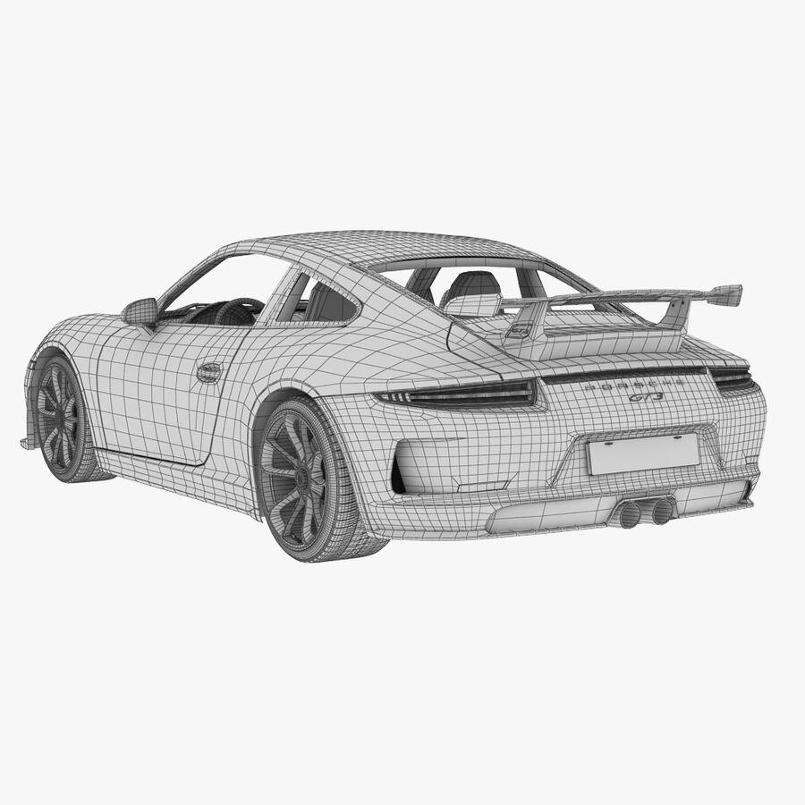 Porsche 911 Carrera GT3 2014 royalty-free 3d model - Preview no. 13