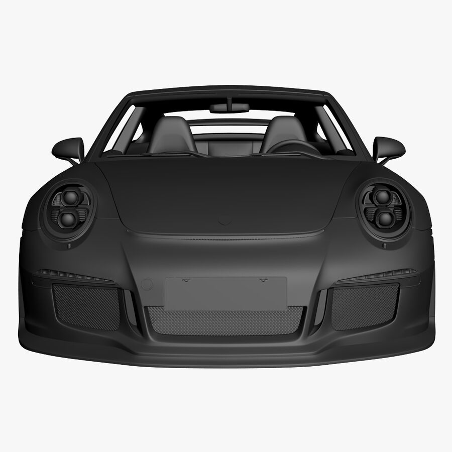 Porsche 911 Carrera GT3 2014 royalty-free 3d model - Preview no. 20