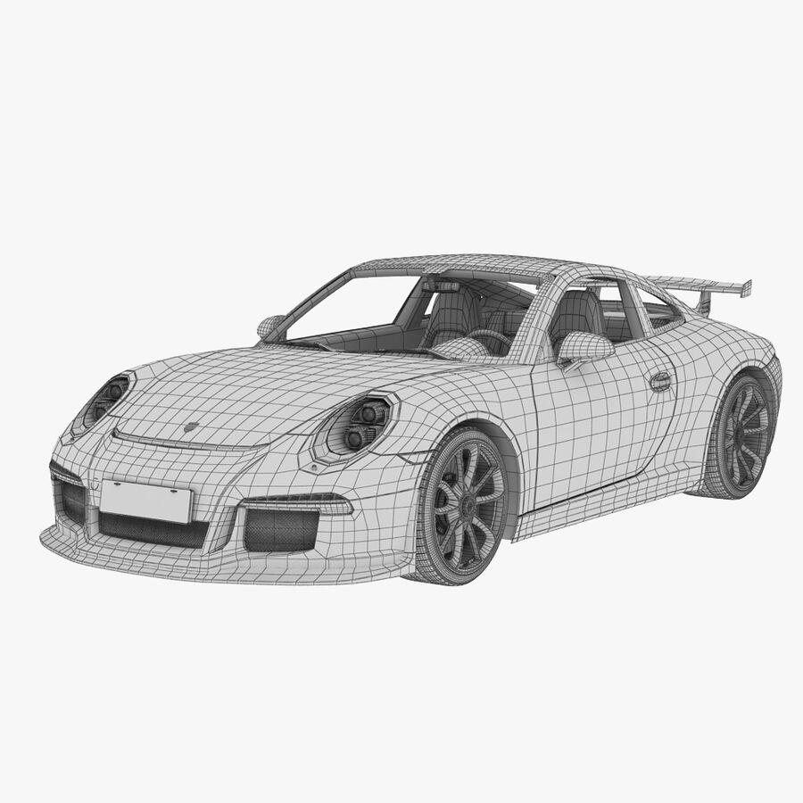 Porsche 911 Carrera GT3 2014 royalty-free 3d model - Preview no. 11