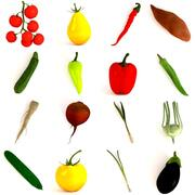 野菜コレクション 3d model