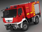 Mercedes Unimog U20 Fire Engine 3d model