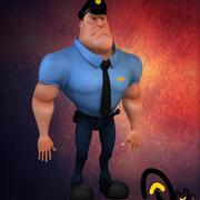 Policía modelo 3d