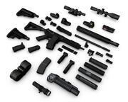 Collezione di armi M4A1 SOPMOD, SCAR-H, AK47, Milkor MGL, M1911, Silverballer 3d model