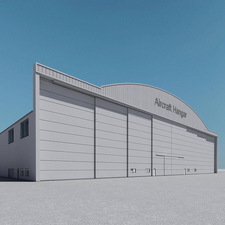 Ангар для самолетов 01 royalty-free 3d model - Preview no. 4