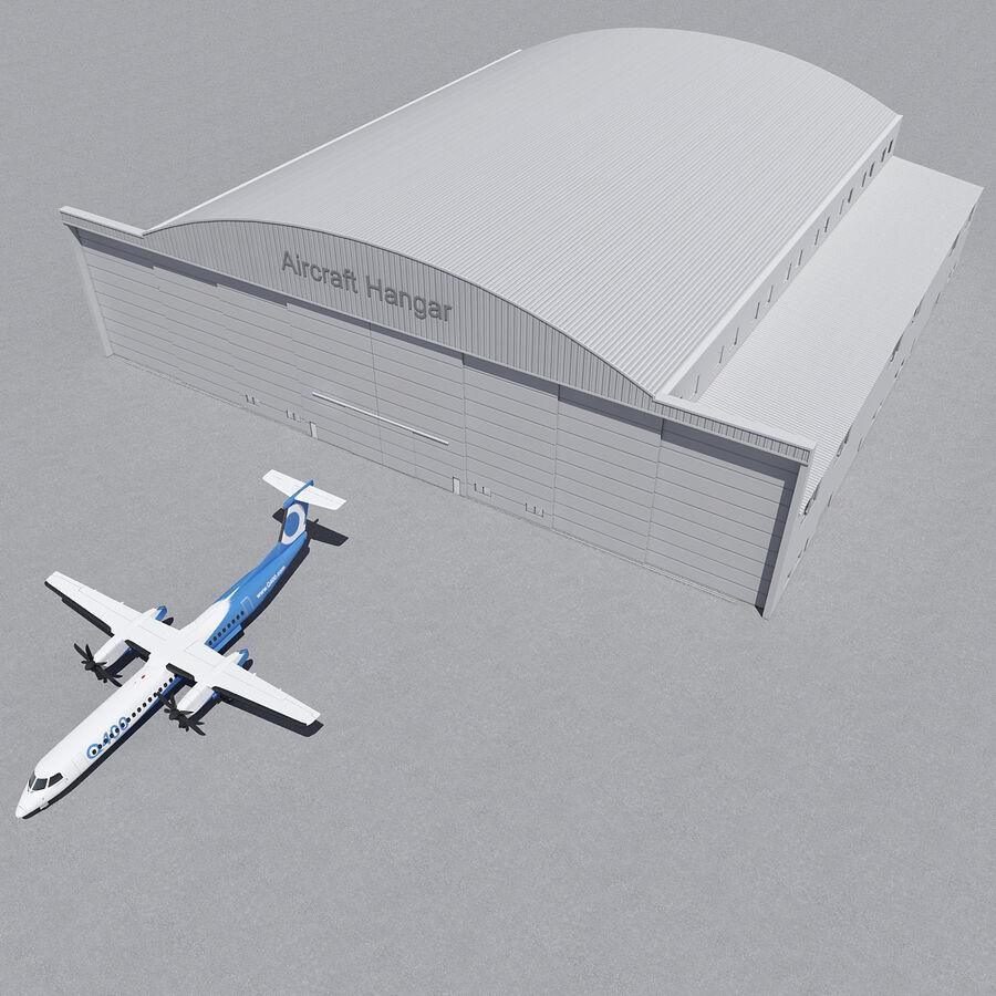 Ангар для самолетов 01 royalty-free 3d model - Preview no. 14