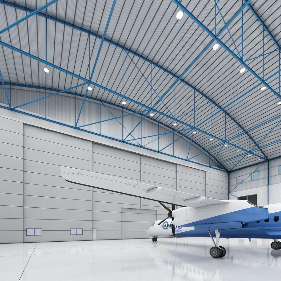 Ангар для самолетов 01 royalty-free 3d model - Preview no. 18