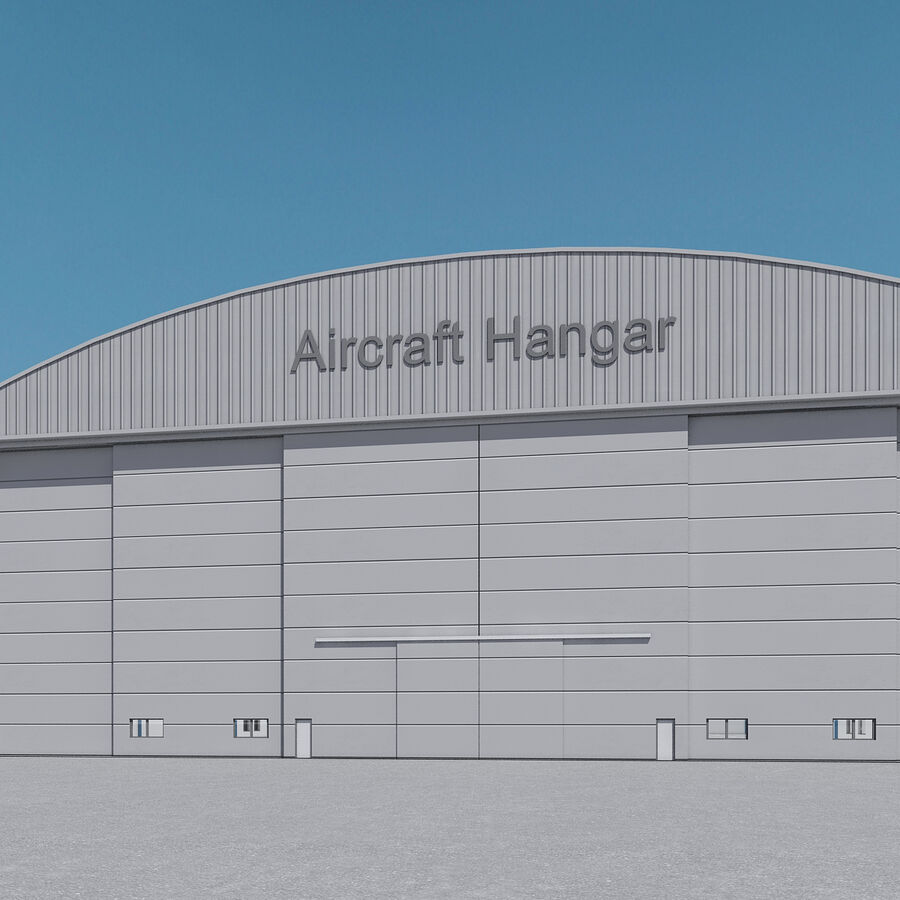 Ангар для самолетов 01 royalty-free 3d model - Preview no. 10